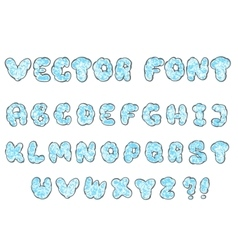 doodle cloud font vector image