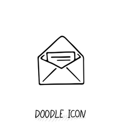 Email doodle icon pictogram vector