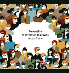 epidemic virus people medical masks prevention vector image