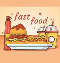 Fast food meals vector