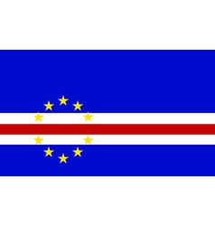 Flag of Cape Verde vector image
