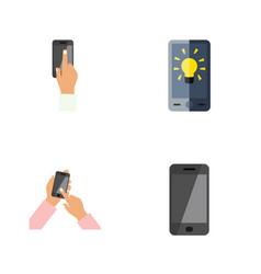 flat icon touchscreen set of screen interactive vector image