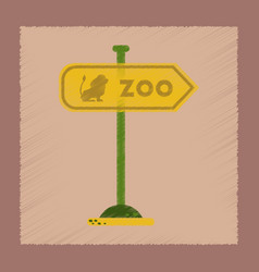 flat shading style icon zoo sign vector image