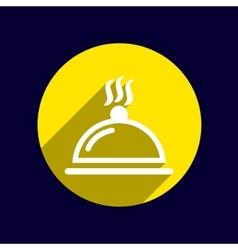 Food platter serving sign icon logo food tableware vector