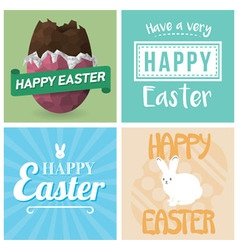 Four Happy Easter Cards vector