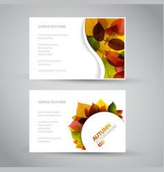 Fresh natural fall banners vector