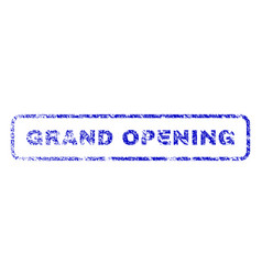 Grand opening rubber stamp vector
