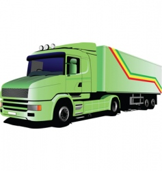 Green lorry vector