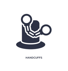 Handcuffs icon on white background simple element vector