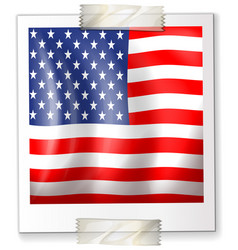 icon design for america flag vector image