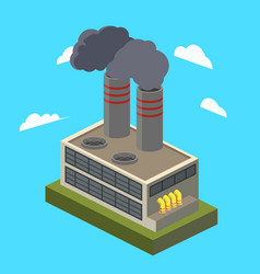 Industrial factory isometric vector