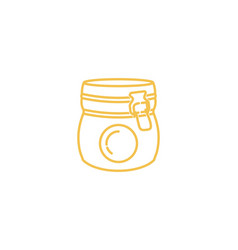 jar mono line logo icon design vector image