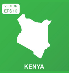 Kenya map icon business concept kenya pictogram vector