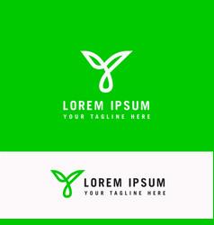 letter y line logo design creative minimalism vector image