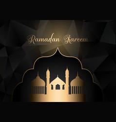 Low poly ramadan kareem background vector