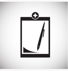 medical report list on white background vector image
