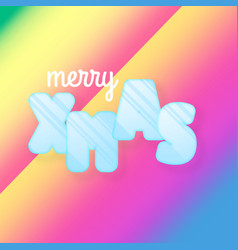merry christmas greeting card of colorful vector image