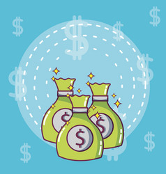 money investment and savings vector image