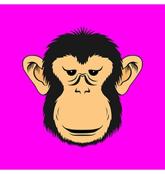 Monkey face print vector