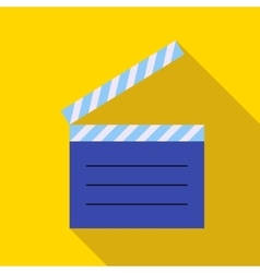 Movie clapper icon in flat style vector