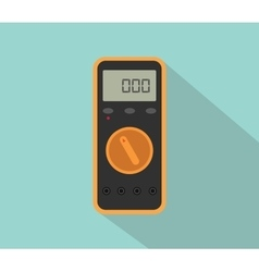 multimeter digital tools voltage with flat color vector image