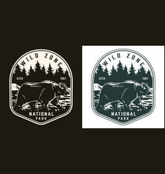national park vintage monochrome label vector image