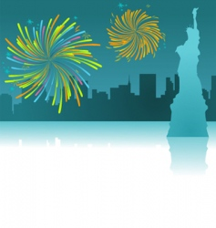 New York silhouette vector image