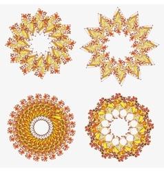 Orange ornament - seamless pattern dudling vector image