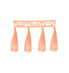 Pink braid threads on vector