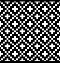 pixel style seamless pattern white black vector image