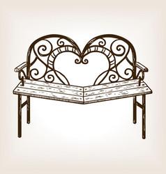 reconciliation bench engraving vector image
