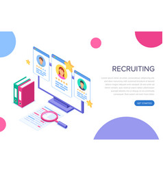 recruitment concept banner can use for web banner vector image