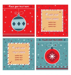 red and blue note cards vector image vector image