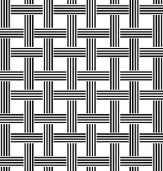 Repeating black and white weave pattern vector