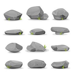 Rocks and boulders set vector