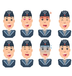 sailors set of emotions vector image