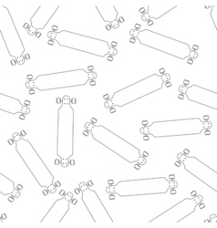 seamless bright pattern white contour cartoon vector image
