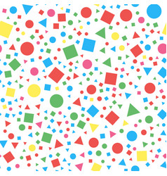 seamless geometric pattern repeated circles vector image