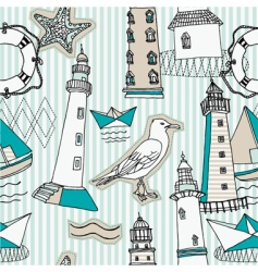 Seascape wallpaper pattern vector