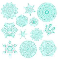 Set of abstract mandala tattoos vector