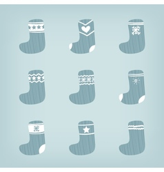 Set of Christmas Stockings vector image
