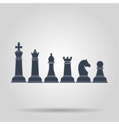 Set of named chess piece icons vector