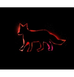 Shining fox vector image