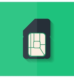 Sim card web icon Flat design vector image