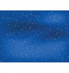 Starry night sky vector