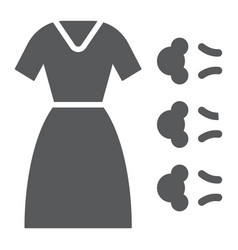 Steam cleaning glyph icon laundry and service vector