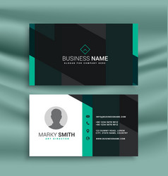 Stylish modern business card in white blue vector