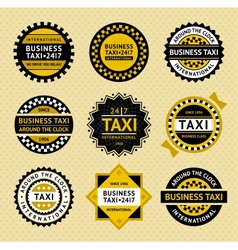 Taxi labels - vintage style vector image vector image