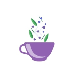 Tea Made With Love In Purple Cup vector