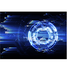 technological abstract modern digital circuit vector image